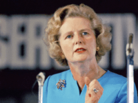 FILE - In a Feb. 10, 1975 file photo, Margaret Thatcher, leading conservative who won the first ballot for leadership which resulted in Edward Heaths resignation, speaks in London. Thatchers former spokesman, Tim Bell, said that former British Prime Minister Margaret Thatcher died Monday morning, April 8, 2013, of a …
