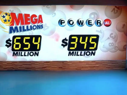 The Mega Millions lottery jackpot prize is approaching a record $654 million for Tuesday evening's drawing. The other multi-state lottery game, the Powerball, also has a jackpot with a sizable sum. Powerball officials announced that Wednesday's jackpot reached $345 million.