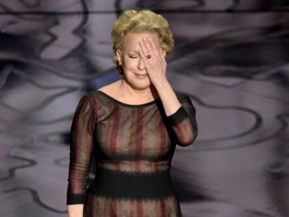 HOLLYWOOD, CA - MARCH 02: Actress/singer Bette Midler performs onstage during the Oscars at the Dolby Theatre on March 2, 2014 in Hollywood, California. (Photo by Kevin Winter/Getty Images)