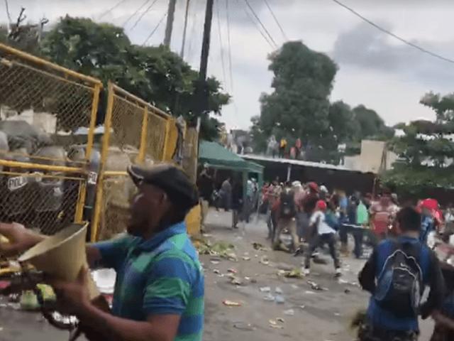 Migrant clash