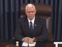 Mike Pence tiebreaker tiebreaking (Senate TV via Associated Press)
