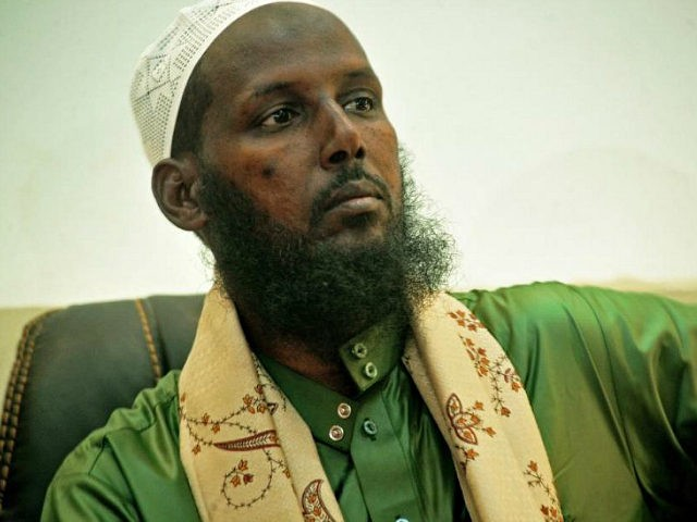 Former Deputy Leader and spokesman of Somalia's Al-Qaeda-affiliated Shebab rebels, Sheikh Mukhtar Robow, also known as Abu Mansur, speaks to journalists on August 15, 2017 in Mogadishu. Abu Mansur left Al-Shabaab in 2013 after falling out with its leader Ahmed Abdi Godane, who was killed a year later, in September …