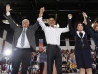 Obama Sisolak Rosen (John Locher / Associated Press)