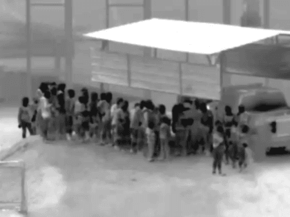 Large group of Central American migrants surrendered to Yuma Station Border Patrol Agents shortly before midnight on October 2. (Photo: U.S. Border Patrol/Tucson Sector)