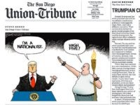San Diego Union-Tribune Nazi nationalist cartoon (Screenshot)