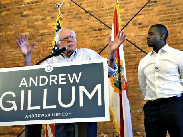 Sen. Bernie Sanders (left) delivered a crucial endorsement — even if Andrew Gillum's campaign for Florida governor seemed to be something of a lost cause.