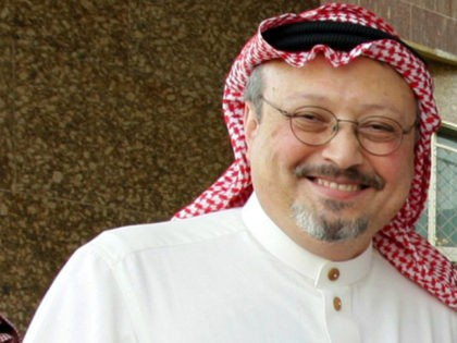 An undated recent file picture shows prominent Saudi journalist Jamal Khashoggi who resigned suddenly on May 16, 2010 in Riyadh from the helm of Al-Watan days after the newspaper published a controversial column criticising Salafism. Al-Watan announced that Khashoggi, 52, was stepping down as editor-in-chief 'to focus on his personal …