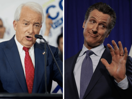 John Cox and Gavin Newsom (Sandy Huffaker and Justin Sullivan / Getty)