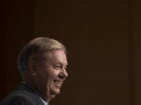 "Sen. Lindsey Graham, R-S.C., on Thursday joked that his party is ""bat-[expletive] crazy"" while speaking at a Washington Press Club Foundation dinner. Photo by Molly Riley/UPI"