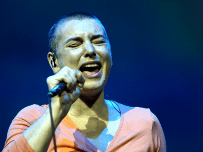 BYRON BAY, AUSTRALIA - MARCH 21: Sinead O'Connor performs on stage during day two of the East Coast Blues & Roots Festival on March 21, 2008 in Byron Bay, Australia. (Photo by Kristian Dowling/Getty Images)