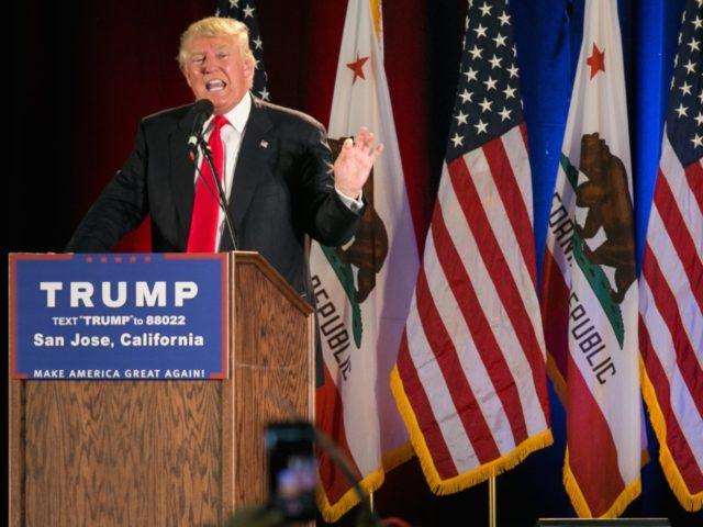Trump in California (Elijah Nouvelage / Getty)