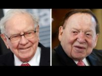 Warren Buffett, left, has engaged in a political fight with Sheldon Adelson over Nevada's energy. (AP, File)