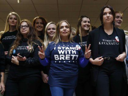 Women supporters of Brett Kavanaugh (Patrick Semansky / Associated Press)