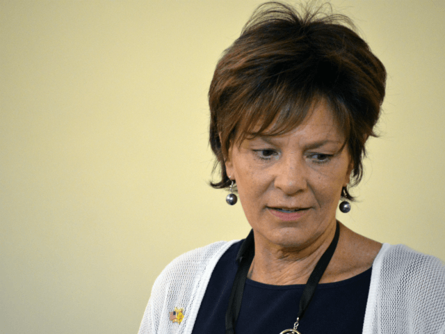 In this May 24, 2018 photo New Mexico State Rep. Yvette Herrell, R-Alamogordo, speaks to voters at a GOP event in Hobbs, N.M. Now that Rep. Steve Pearce, R-Hobbs, is stepping down to run for New Mexico governor, eyes are turning to southern New Mexico where the open congressional seat …