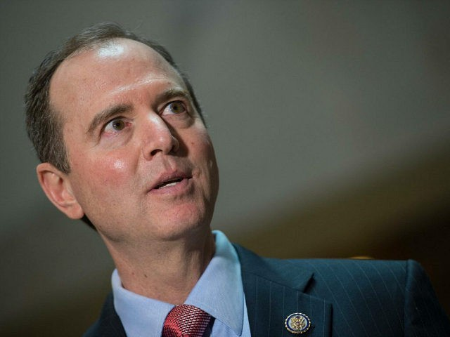 Adam Schiff, the ranking Democrat on the US House Intelligence Committee, speaks to the press about the committee's ongoing investigation on Russian meddling in the 2016 presidential election at the Capitol in Washigton, DC, on March 30, 2017 / AFP PHOTO / NICHOLAS KAMM (Photo credit should read NICHOLAS KAMM/AFP/Getty …