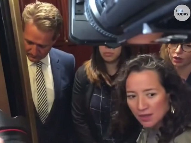 Woman Who Confronted Jeff Flake in Elevator Leads Soros-Funded Activist Group
