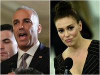 Andrew Pollack and Alyssa Milano