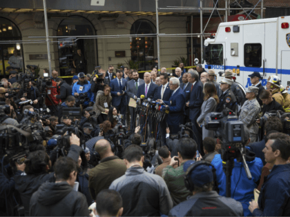 NYPD Deputy Commissioner of Intelligence & Counterterrorism John Miller delivers remarks during a press conference after NYPD personnel removed an explosive device from Time Warner Center Wednesday, Oct. 24, 2018, in New York. Other packages were sent to the offices of Gov. Andrew Cuomo and to the home of President …