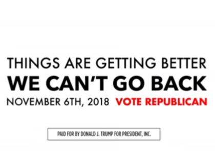 President Donald Trump's campaign released a new campaign ad on Monday, urging voters to support Republicans in the midterm elections.
