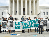 A handful of protesters showed up on Monday at the U.S. Supreme Court to show support for 21 young people who in 2015 filed a lawsuit against the federal government for ignoring climate change allegedly caused by fossil fuels and denying youth their constitutional right to a stable environment.