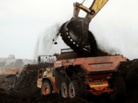A truck is loaded with old coal on March 16, 2017 in Melbourne, Australia. In November 2016, French owners of the Hazelwood Power Station, Engie, announced plans to shut the brown coal fuelled power station, citing lack of commercial viability and environmental reasons. The short notice given to the hundreds …