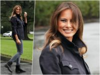 Fashion Notes: Melania Trump is All Smiles in Timberland Combat Boots