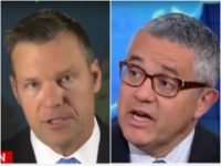 Kansas Secretary of State and gubernatorial candidate Kris Kobach slammed CNN's Jeffrey Toobin after being attacked for supporting voter identification laws.