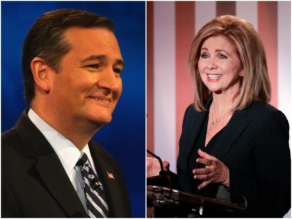 Combo photo of Ted Cruz and Marsha Blackburn