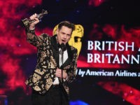 BEVERLY HILLS, CA - OCTOBER 26: Jim Carrey accepts the Charlie Chaplin Britannia Award for Excellence in Comedy presented by Jaguar Land Rover onstage at the 2018 British Academy Britannia Awards presented by Jaguar Land Rover and American Airlines at The Beverly Hilton Hotel on October 26, 2018 in Beverly …