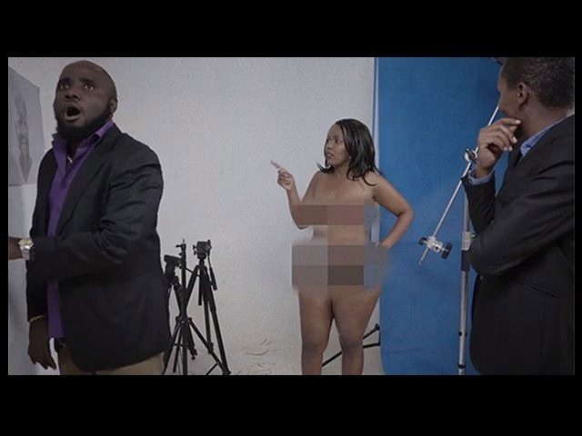 "Kingwa Kamencu (centre) in a scene of her series titled ""Madame President."" PHOTO 