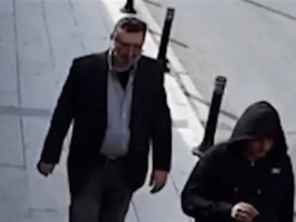 There is a law enforcement surveillance footage, part of the Turkish government's investigation, that appears to show the man leaving the consulate by the back door, wearing Khashoggi's clothes, a fake beard, and glasses.