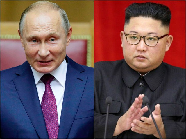 Russia's Vladimir Putin and North Koreas Kim Jong-un