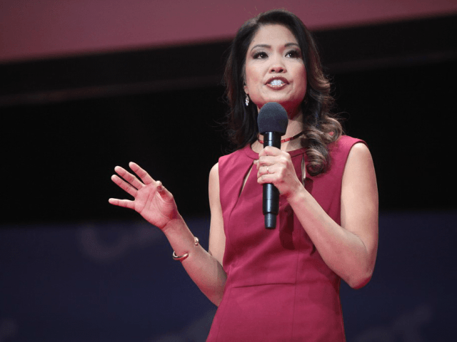 Michelle Malkin speaking at an event in Greenville, South Carolina.