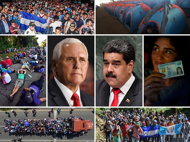mike-pence-nicolas-maduro-migrant-caravan-getty