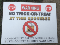 As Sheriff, there is nothing more important to me than the safety of your children. This Halloween, my office has placed signs in front of every registered sex offender's house to notify the public that it's a house to avoid. Georgia law forbids registered sex offenders from participating in Halloween, …