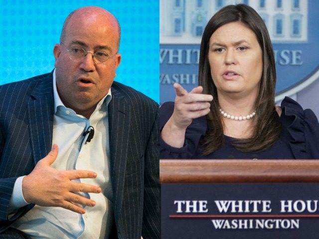 White House Press Secretary Sarah Sanders defied CNN's attempt on Thursday to blame President Donald Trump for the bomb scares of prominent Democrats.