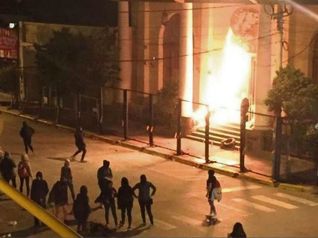 Feminist Abortion Activists Hurl Firebombs at Church in Argentina
