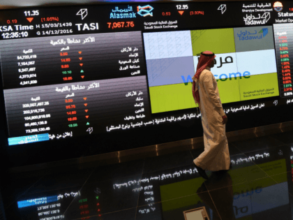 A Saudi investor monitors the stock exchange at the Saudi Stock Exchange, or Tadawul, on December 14, 2016 in the capital Riyadh. / AFP / FAYEZ NURELDINE (Photo credit should read FAYEZ NURELDINE/AFP/Getty Images)