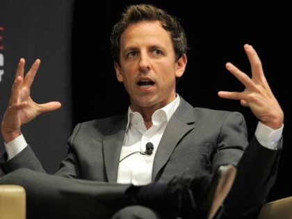NEW YORK, NY - NOVEMBER 08: Comedian Seth Meyers speaks during the TIME Person of the Year panal discussion duing the TIME Person of the Year Lunch at Time Life Building on November 8, 2011 in New York City. (Photo by Jemal Countess/Getty Images for Time)