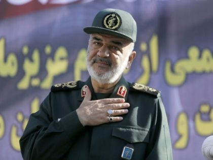 Hossein Salami deputy commander of the Islamic Revolutionary Guard Corps, when he attended a public funeral ceremony for those killed during an attack on a military parade in the southwestern Iranian city of Ahvaz on September 24, 2018