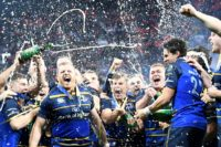 That winning feeling: Leinster celebrate victory in the 2017/2018 final against Racing 92