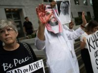 Demonstrators staged protests outside the Saudi embassy in Washington to demand justice for missing Saudi journalist Jamal Khashoggi