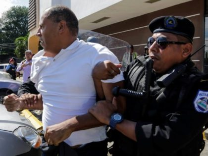 Police used stun grenades and swung clubs to break up a demo against the government of President Daniel Ortega, arresting some 20 demonstrators