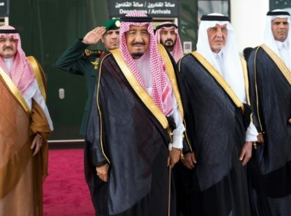 A handout picture provided by the Saudi Royal Palace shows Saudi King Salman bin Abdulaziz attending September's inauguration of a new high-speed railway linking Mecca and Medina, Islam's holiest cities