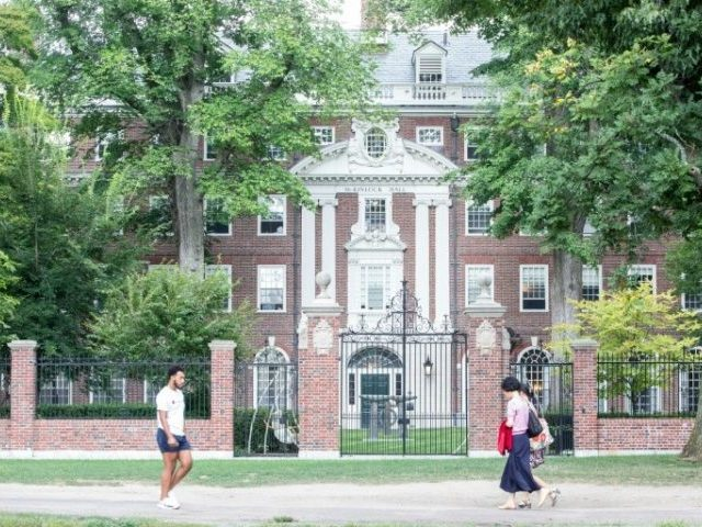 Harvard University says the proportion of Asian students has increased substantially since 2010