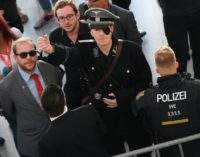 German satirist Martin Sonneborn came dressed as Claus Schenk Graf von Stauffenberg, one of the central figures of Nazi Germany's Resistance movement, in an eye-catching protest over a book reading by a far-right politician