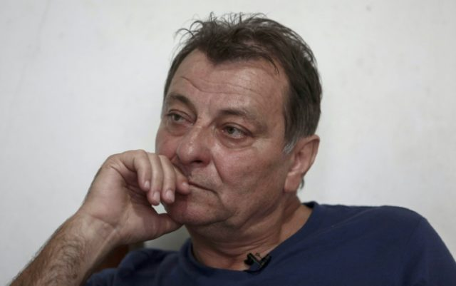Italian ultra-leftist militant Cesare Battisti during an interview with AFP in Cananeia, Sao Paulo state, Brazil on October 20, 2017