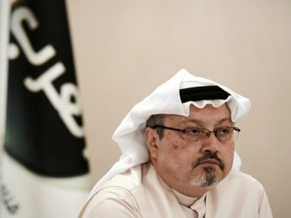 Jamal Khashoggi, pictured in 2014, has not been seen since he stepped inside the Saudi consulate in Istanbul on October 2