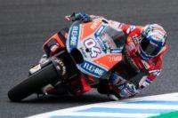 Ducati Team Italian rider Andrea Dovizioso trying to stay in the hunt