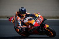 Honda's Marc Marquez started from sixth on the grid at Motegi but quickly knifed through the field to take the win